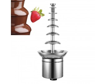 VEVOR Commercial Chocolate Fountain 7 Tiers 100cm/39inch Stainless Steel Auto Temperature Control 86-302℉ for Wedding Parties