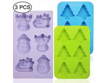 3 Pack Silicone Christmas Molds