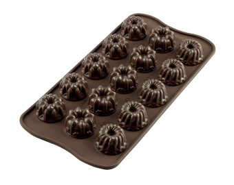 Platinum Silicone Fantasia Chocolate Mold, Brown