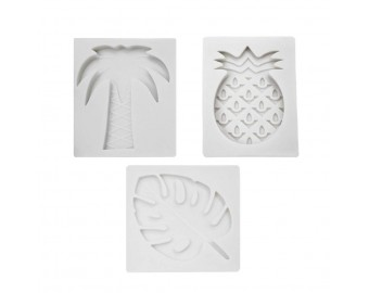 Fondant Cake Molds Tropical Fruits Shaped Plunger Embossed 3 Pcs
