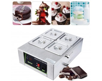 BEAMNOVA Chocolate Melting Machine Pot 4 Tank For Candy Making Electric Commercial Melter 17.64lbs